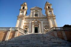 Lavagna: la bella chiesa di Santa Giulia fotografia stock