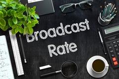 Lavagna nera con il tasso di radiodiffusione rappresentazione 3d Fotografie Stock