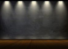 Lavagna nera nella stanza vuota Fotografia Stock Libera da Diritti
