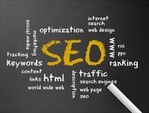 Lavagna - ottimizzazione di Search Engine illustrazione di stock