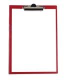 Lavagna per appunti con Libro Bianco in bianco fotografia stock libera da diritti