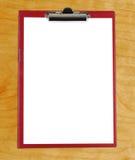 Lavagna per appunti con Libro Bianco in bianco immagine stock libera da diritti
