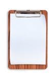 Lavagna per appunti di legno per testo e fondo Fotografia Stock Libera da Diritti