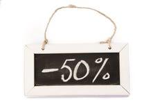Lavagna sulla corda, -50-% Immagine Stock Libera da Diritti