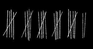 Lavagna Tally Marks Fotografia Stock Libera da Diritti