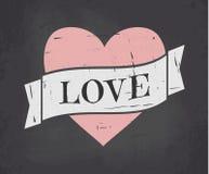 Lavagna Valentine Card Fotografie Stock Libere da Diritti
