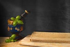 Lavagna vuota nella cucina Fotografie Stock Libere da Diritti