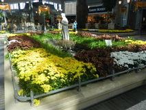 Laval, Canada, December 10, 2013 - Decoration at Carrefour Laval Mall Shopping. Interior garden decor Stock Images