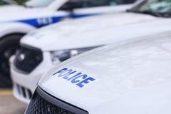 Laval Kanada: Maj 19, 2018: Bilen av den kanadensiska polisen ins Arkivfoton