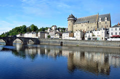Laval slott Arkivfoton