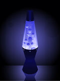 Lavalamp in blue Royalty Free Stock Photos