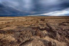 Lavalandschap van IJsland Stock Foto