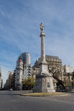 Lavalle marble statue in Buenos Aires Royalty Free Stock Photo