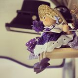 Lavanda doll. A wood doll in Provence royalty free stock images