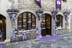 Lavanda shop in Venzone, Friuli, Italy Stock Photos