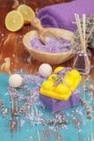 Lavanda y limón aromatherapy Imágenes de archivo libres de regalías