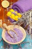 Lavanda y limón aromatherapy Imagenes de archivo