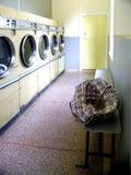Lavandería automática retra fotografía de archivo