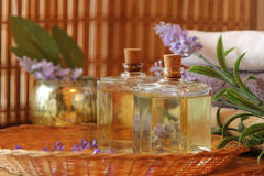 Lavander oils Royalty Free Stock Image