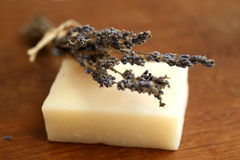 Lavander and soap Stock Images