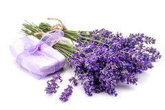 Lavander and soap stock photo