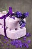 Lavander soap Royalty Free Stock Images