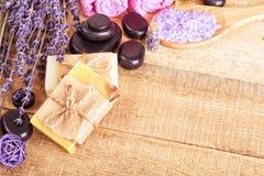 Lavander soap stock images