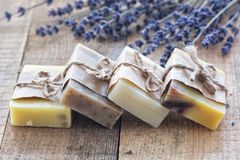 Lavander soap Stock Photography