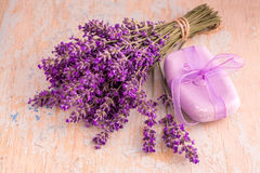Lavander and soap stock photos