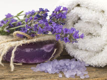 Lavander treatment Royalty Free Stock Photography
