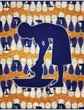 Lavanderia africana di lavaggio della ragazza illustrazione di stock