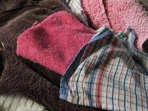 Lavanderia: asciugamani lavati Fotografie Stock Libere da Diritti