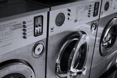 Lavanderia automatica di lavoro a riposo fotografia stock libera da diritti