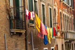 Lavanderia che si asciuga all'aperto a Venezia Fotografie Stock
