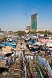 Lavanderia de Dhobi Ghat Imagem de Stock