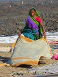 Lavanderia de lavagem perto da vila Bandra de Chuim Imagem de Stock Royalty Free