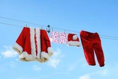 Lavanderia del Babbo Natale immagini stock