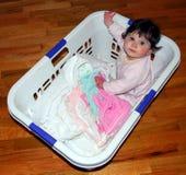 Lavanderia del bambino Fotografie Stock