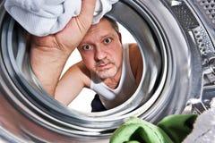 lavanderia di giorno Fotografie Stock