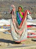 Lavanderia di lavaggio vicino al villaggio Bandra di Chuim Fotografie Stock Libere da Diritti