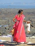 Lavanderia di lavaggio vicino al villaggio Bandra di Chuim Fotografia Stock Libera da Diritti