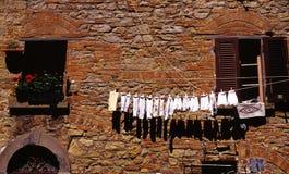 Lavanderia di secchezza all'esterno Immagini Stock Libere da Diritti