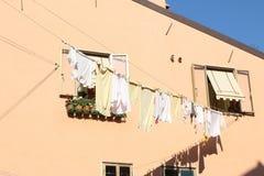 Lavanderia di secchezza, meraviglia di Venezia Fotografia Stock Libera da Diritti