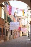 Lavanderia di secchezza, meraviglia di Venezia Immagini Stock