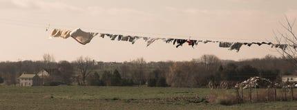 Lavanderia e exploração agrícola de Amish fotos de stock royalty free