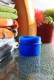 Lavanderia e frasco detergente Fotografia de Stock Royalty Free
