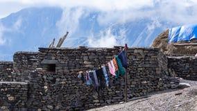 Lavanderia e monte de feno Imagens de Stock