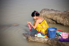 Lavanderia, Myanmar immagini stock