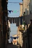 Lavanderia pendurada para fora para secar em Veneza Imagem de Stock Royalty Free