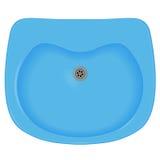 Lavandino blu Fotografia Stock Libera da Diritti
